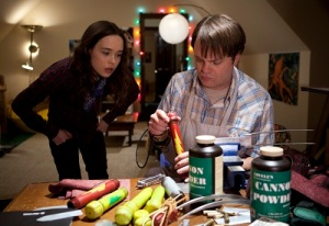 "Ellen Page and Rainn Wilson in ""Super"""